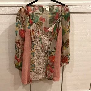 Meadow rue floral blouse